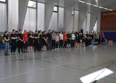 Aufstellung aller Teilnehmenden bei Deutscher Meisterschaft