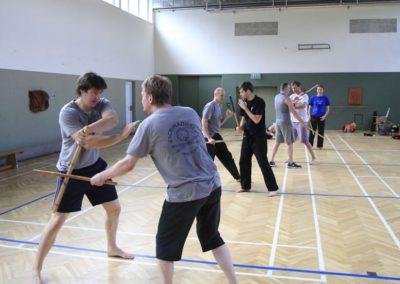 Einzelstock-Training in der Halle