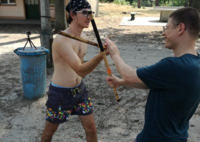 Lockeres Einzelstock-Training im Sommercamp